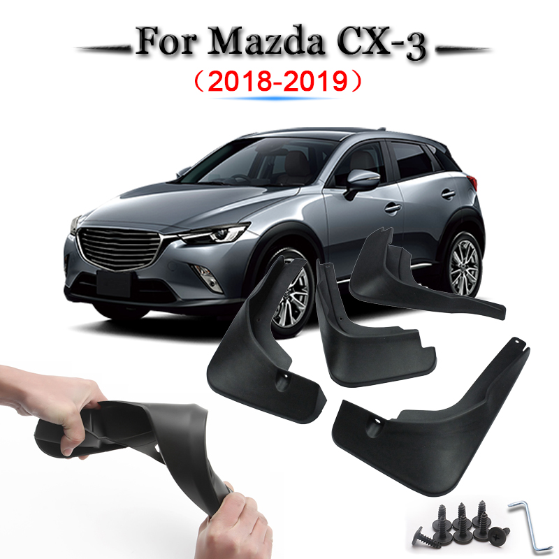 4 Mud Flaps Splash Guards Fender Car Mudguard fit for Mazda CX-3 2018 2019
