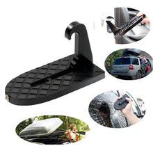 2 em 1 carro dobrável escada passo auxiliar pedal do telhado do carro pedal pé pegs com martelo de segurança fácil acesso ao telhado peças de automóvel