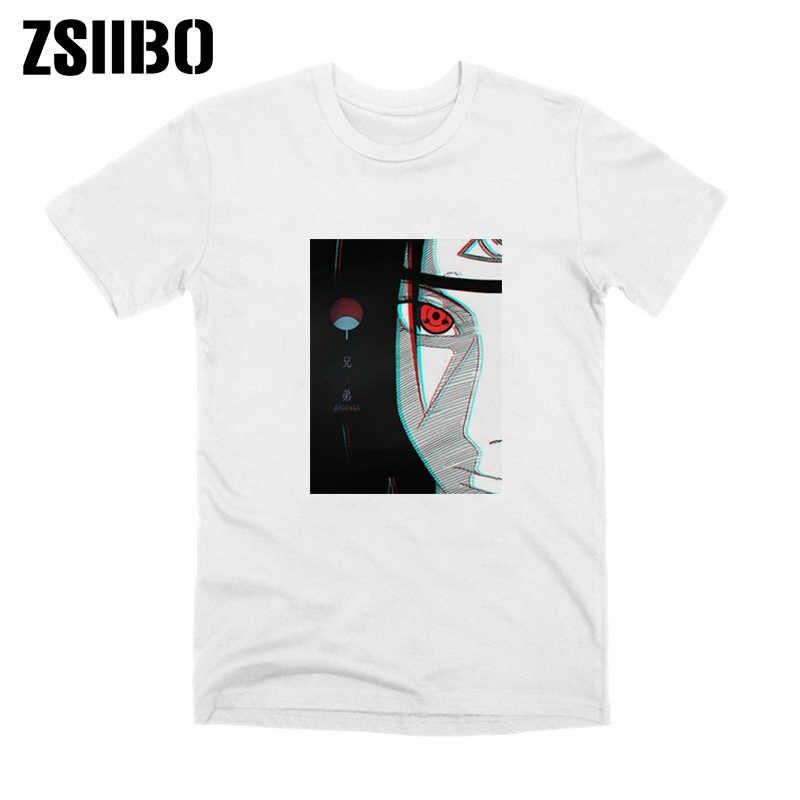 原宿メンズ tシャツ夏の新ファッションナルト tシャツイタチうちはブラザーアニメの男 tシャツ男性ストリート衣装トップス