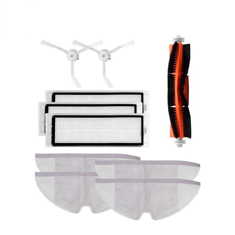 Mija Accessories 10Pcs Main Brush Hepa Filter Side Brush Mop Cloths Kit For Mi Roborock S50 S51 S55  Robot Roborock 2 Xiaowa