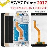 5.5 ''HUAWEI Y7 2017 Y7 başbakan 2017 LCD ekran dokunmatik ekran digitizer için Huawei Y7 başbakan 2017 LCD çerçeve ile TRT-L21 TRT-LX1