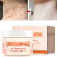 Plant Essence Neck Cream Six Peptides Brighten Anti Aging Wrinkle Remove Neck Fine Lines Whitening Firming For Neck Skin Care