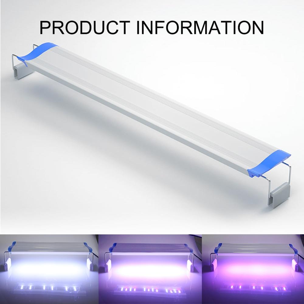 18-61CM Super Bright Aquarium Light Switch 3 Color LEDs Aquarium Lamp Extensible Waterproof Clip On Lamp For Aquatic Plant Fish