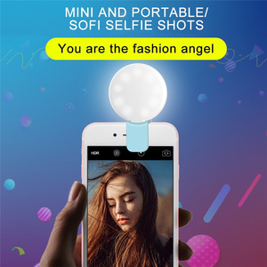 LED Selfie Ring Flash Movil Phone Light Lamp Camera Photography Video Spotlight For iPhone x Huawei p20 beauty fill light