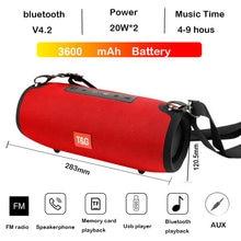 Alta potência 40w alto-falante bluetooth baixo coluna portátil estéreo sem fio subwoofer música centro playe com 3600mah bateria soundbox