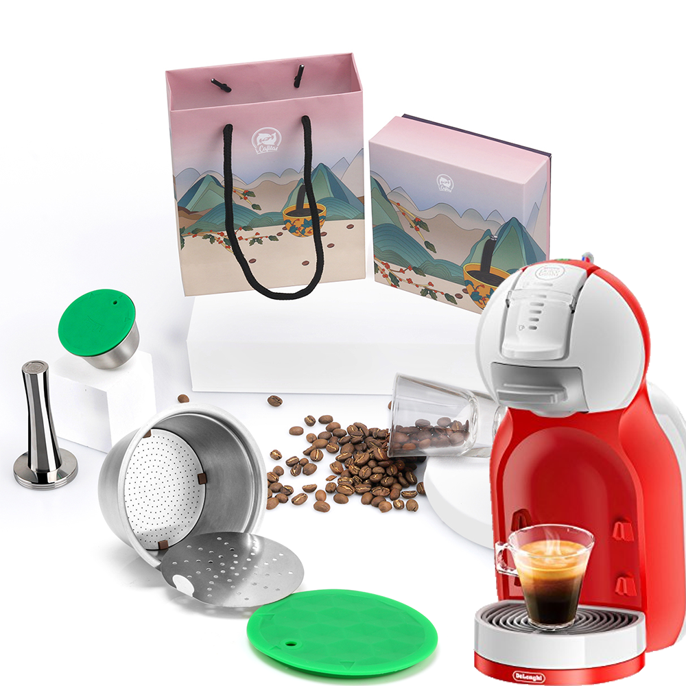 Reusable Capsule COFFEE-FILTER Dolce Gusto Inox Nescafe Cup Tamper Stainless Icafilas