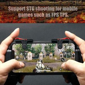 2pcs Mobile Phone Gaming Trigger Gamepad PUBG Button Handle For L1R1 Shooter Controller Keypads Grip For IPhone Android Phone
