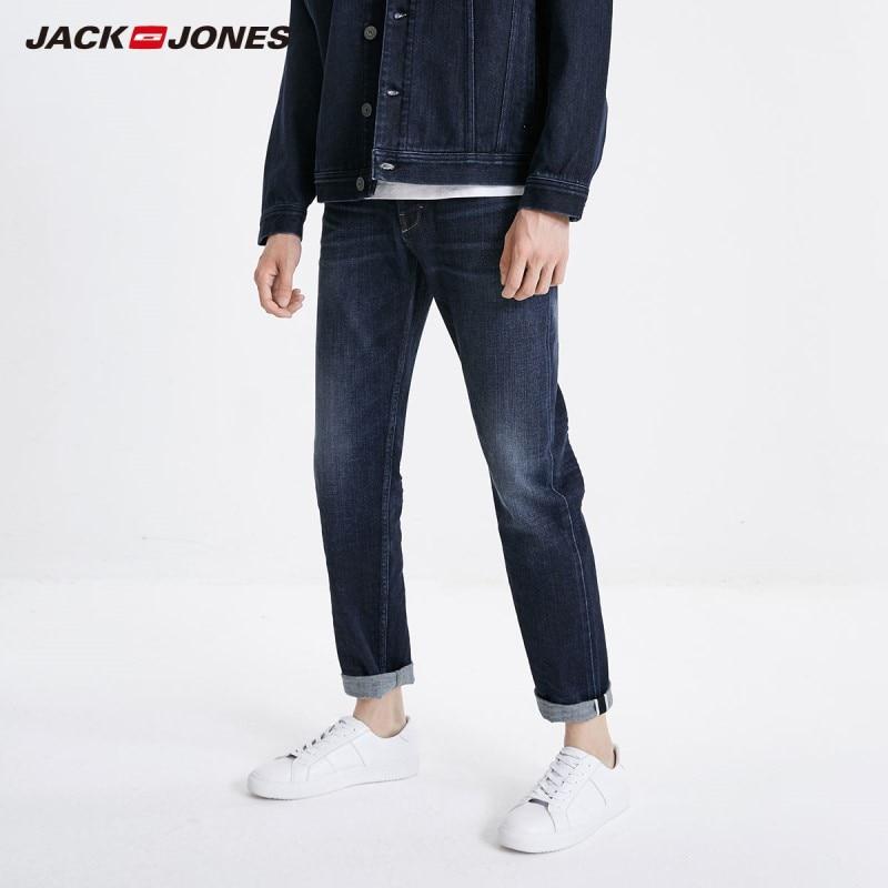 JackJones Men's Winter Stretch Slim Fit Jeans Fashion Classical Denim Jeans 219132559