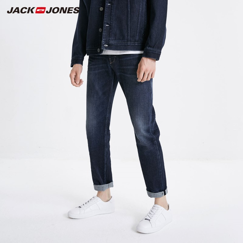 JackJones Men's Winter Stretch Slim Fit Jeans Fashion Classical Style Denim Jeans 219132559