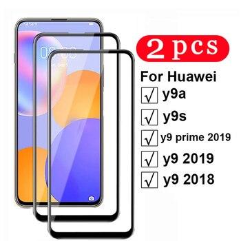 Protector de pantalla del teléfono para huawei y9 prime y6 y7 pro 2/1 y5 lite 2019 y9s y9A y8s y8p y7p y6s y6p, película de vidrio templado, 2018 Uds.