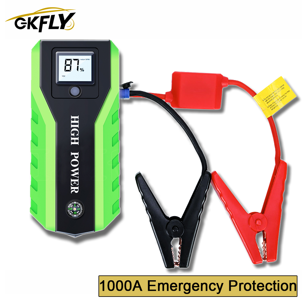 GKFLY 1000A Multifunction Jump Starter High Power Starting Device <font><b>Car</b></font> <font><b>Charger</b></font> For <font><b>Car</b></font> <font><b>Battery</b></font> Jumper <font><b>Cables</b></font> Launcher Starter image