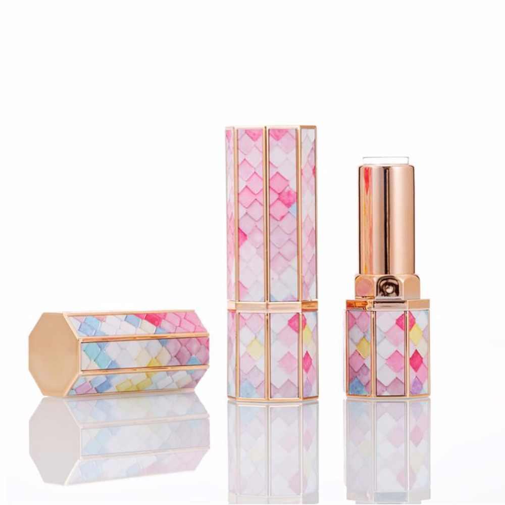 1 adet Mermaid boş ruj tüpler doldurulabilir dudak balsamı tutucu konteyner DIY örnek flakon ev yapımı hediye gökkuşağı renk süslemeleri