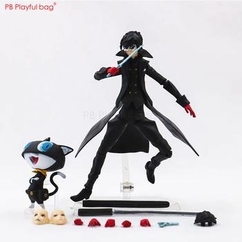 17CM Akira Kurusu&Morgana figure Movable PVC collectible action figure Japanese Anime fans loves Persona 5 model figure HD94 1