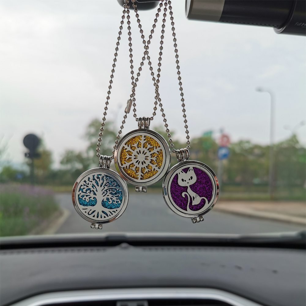 Aromatherapy Pendant Car Perfume Air Freshener Diffuser Snowflake Hanging Ornaments
