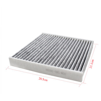 Car Active Carbon Cabin Air Filter 80292-SDG-W02 80292-TGO-W02 fit for HONDA CITY New Fit CRIDER XRV image