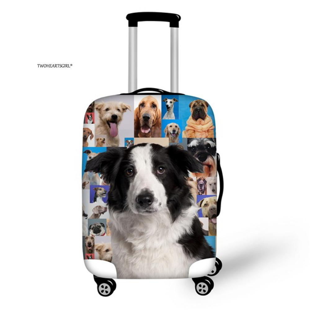 Twoheartsgirl Thick Dog Suitcase Protective Dust Cover Elastic Suitcase Cover For 18''-32'' Trunk Case Baggage Cover Zipper