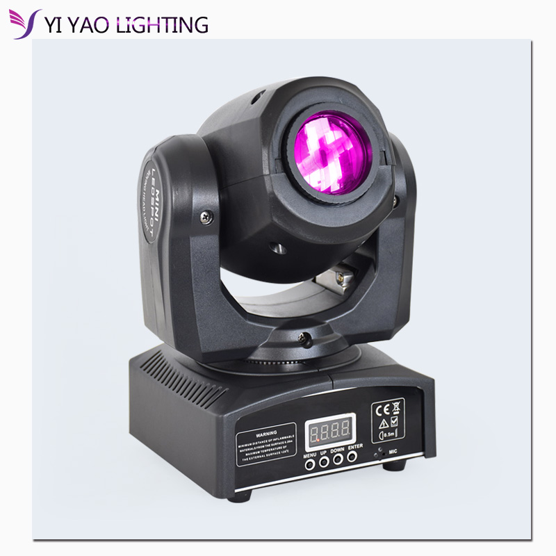 DMX Gobo Light 10w Spot Mini Moving Head  Lights With Colorfor Effect For Party Club Stage Lighting