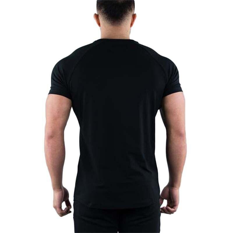 running - 2020 Summer breathable Running T Shirt Men Sports printing T-Shirt black gyms T Shirts Loose O-neck Fitness Cotton Shirt men
