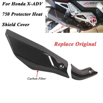 For Honda X-ADV 750 X ADV750 Motorcycle Original Exhaust Muffler Escape Cover Carbon Fiber Protector Heat Shield Cover Guard