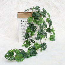 80cm Artificial Plants Turtle Leaf Rattan Hanger Green Leaves Home Christmas Tree Wedding Garden Decorative Fake Flower Vine