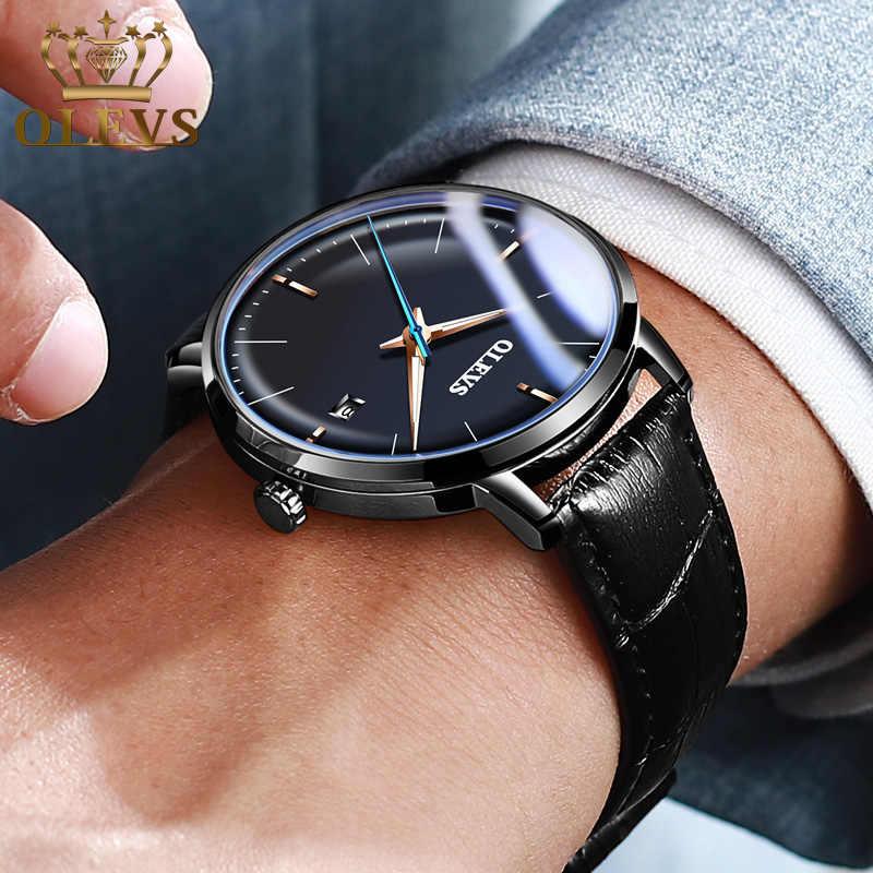 OLEVSนาฬิกาข้อมือผู้ชายยอดนิยมนาฬิกาอัตโนมัติMechanicalนาฬิกาผู้ชายแบรนด์หรูนาฬิกาข้อมือสำหรับชาย