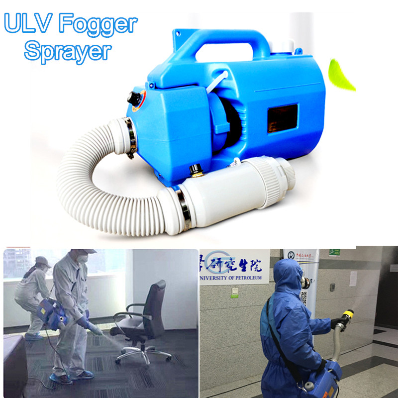 1000W 5L Electric ULV Sprayer Portable Fogger Machine Anti Haze Smog Disinfection Safety Protection First Aid Camping Equipment