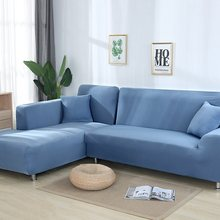купить Candy Color Elastic Sofa Cover Sectional Couch Cover for Sofas Slipcover Stretch Spandex Corner Sofa Couch Protector Living Room по цене 962.44 рублей