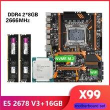 Kllisre X99 D4 motherboard combo mit Xeon E5 2678 V3 LGA2011 3 CPU 2 stücke X 8GB = 16GB 2666MHz DDR4 speicher