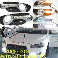 Car Flashing 1 Set For Mitsubishi Lancer EX 2009 2010 2011 2012 2013 2014 LED DRL Daytime Running Lights Daylight Fog Head Lamp