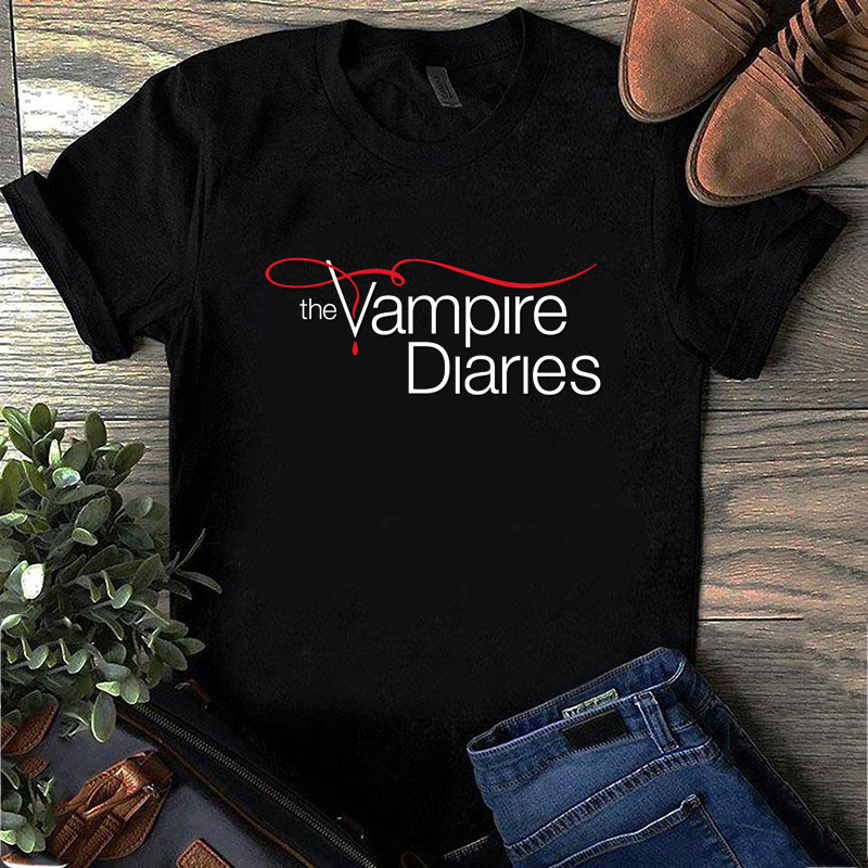 Short-sleeve Tee Shirt Women Men The Vampire Diaries T Shirt Ulzzang Vintage T-Shirt Harajuku Female Tee Tops Plus Size XXS-4XL