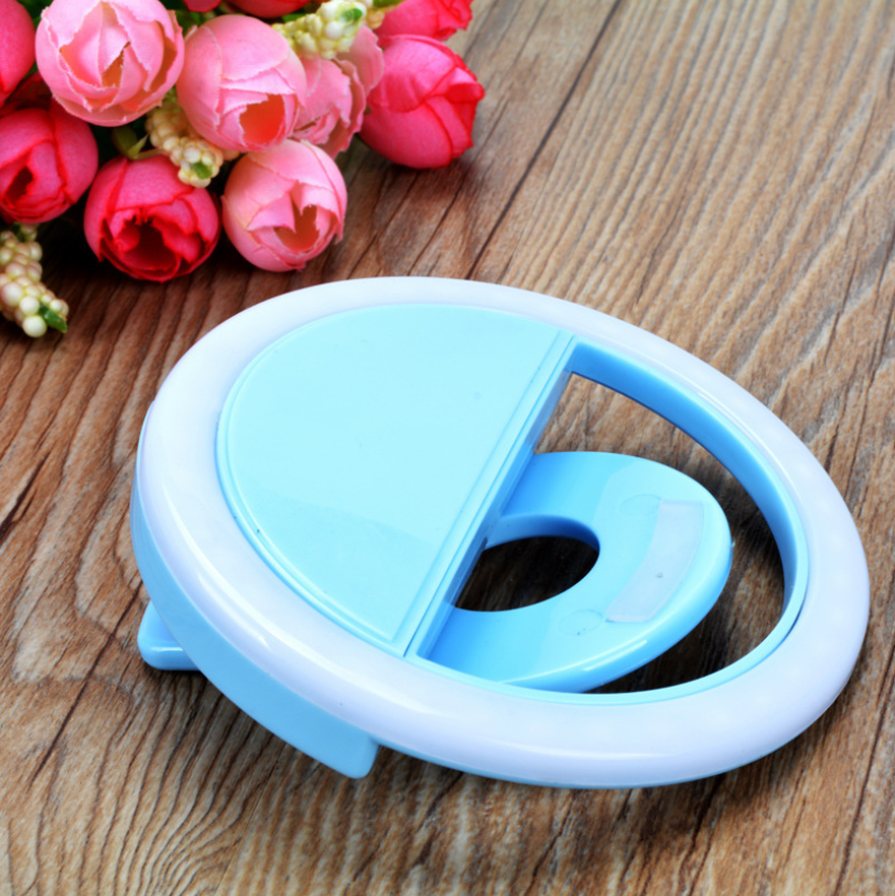 USB  LED Flash Light Rechargeable Selfie Up Phone Luminous Selfie Ring Light Clip Photography Enhancing For IPhone 8 X 7 Samsung