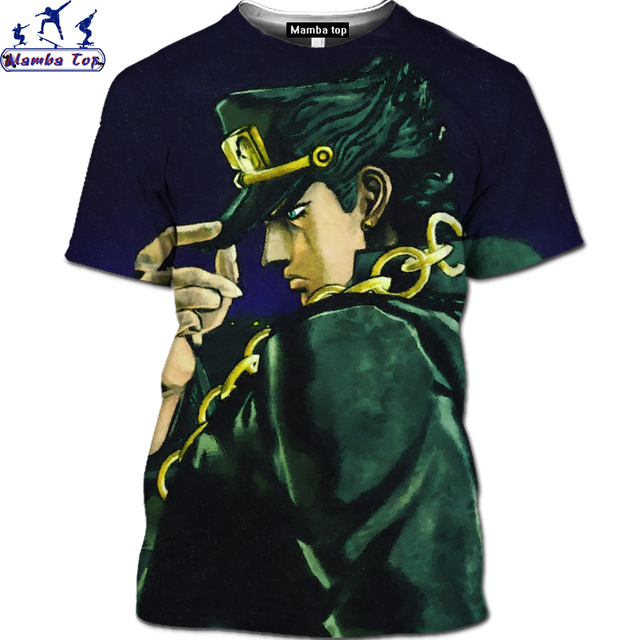 Mamba Top 3D  Super Ability Adventure Campus Anime JoJo's Bizarre Adventure T-shirt Boxing Fighting Loli Shirt Gym Men's T-shirt 3