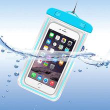 Sac universel de natation de plongée de dérive sous-marine sac de plage lumineux sec coque de téléphone étanche pochette pour téléphone portable 3.5-6 pouces