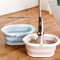 Przenośne wiadro do mopa składane plastikowe umywalki do kąpieli składane naczynia kuchenne akcesoria do czyszczenia gospodarstwa domowego|Wiadra|   -