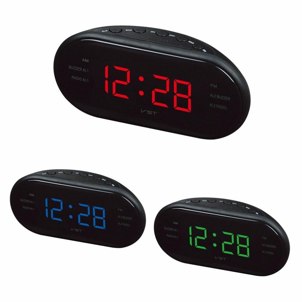 220V EU AM FM Frequency <font><b>Radio</b></font> <font><b>Alarm</b></font> Digital LED <font><b>Clock</b></font> Luminous Electronic Home Table