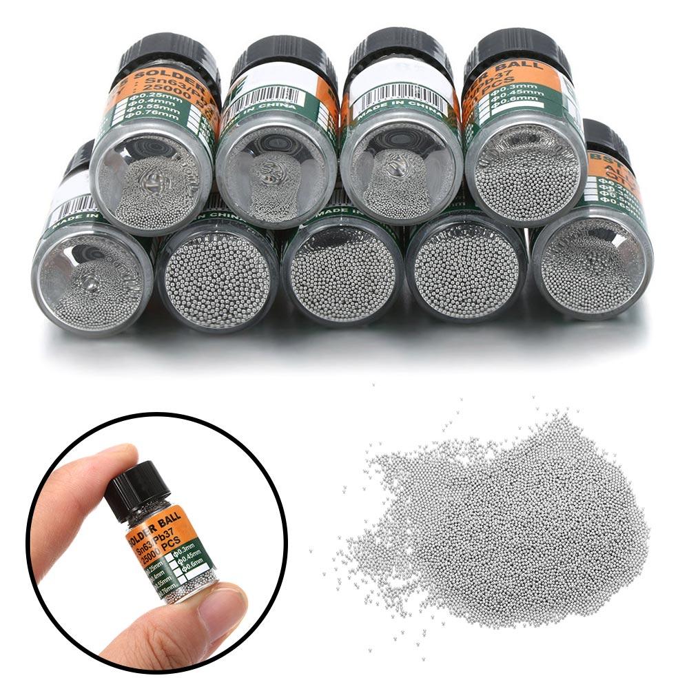 25000 шт./бутылка, шарики для пайки микросхем, 0,2-0,65 мм