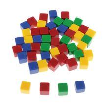50 шт 16 мм Пустые 6 сторонних кубиков D6 кубиков смешанных цветов для военных игр маркеры-квадратный угол
