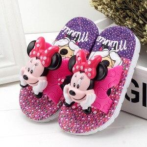 Pantoufle enfant été garçons filles chaussures dessin animé Mickey PVC salle de bain antidérapant doux maison chaussures enfants-parent intérieur extérieur 24-40(China)