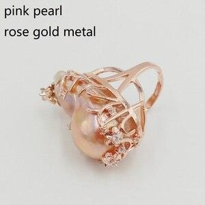 Image 4 - 100% Natuur Zoetwater Parel Ring, Grote Barokke Parel Ring. 20X30 Mm Parel