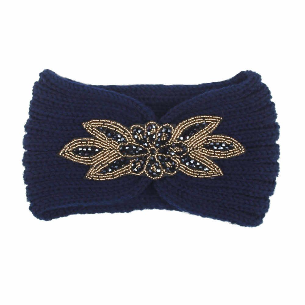 อุปกรณ์เสริมผมผู้หญิงถัก Headbands ฤดูหนาว Warm Head Wrap กว้างผมเซ็กซี่ bodycon นุ่มสบาย Headbands