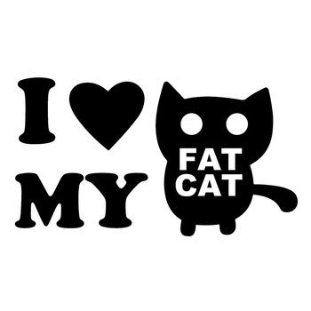 I Love My Cat Animal Cartoon Car Stickers Styling Motorcycles Bumper for Bmw E46 Cover Scratches Decal Accessories PVC10cm X5cm image