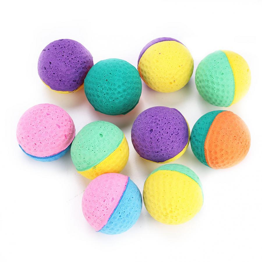 Новый стиль игрушки для кошек, 10 шт./компл., цветные игрушки для кошек и котят, латексные шары, товары для кошек, инструменты