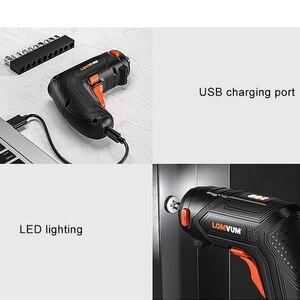 Image 5 - LOMVUM мини USB перезаряжаемая электрическая отвертка набор 4 в Беспроводная отвертка набор 4 головки сменная многофункциональная отвертка