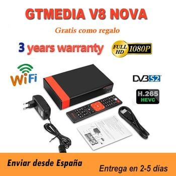Full HD Gtmedia v8 nova DVB-S2 Satellite Receiver gtmedia V8X upgrade form Freesat v8 honor Support H.265 Built-in WiFi no app 2