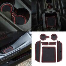 Für Chevrolet Camaro 2012 2013 2014 2015 2016 Tür Nut Tor Slot Matte Cup Coaster Anti Slip Matte Auto Zubehör PVC/ Latex Rot