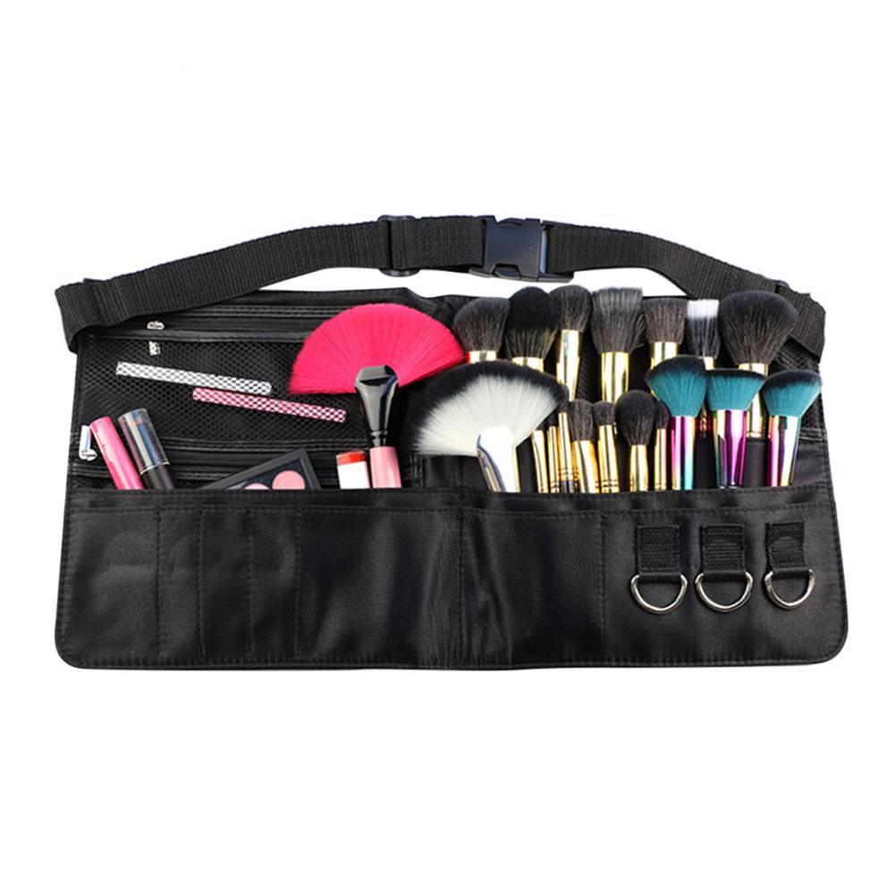 Professional Makeup Brush Holder Case Bag Artist Belt Strap Cosmetic Brushes Holder Bag Organizer Storage Pouch Makeup Tools New