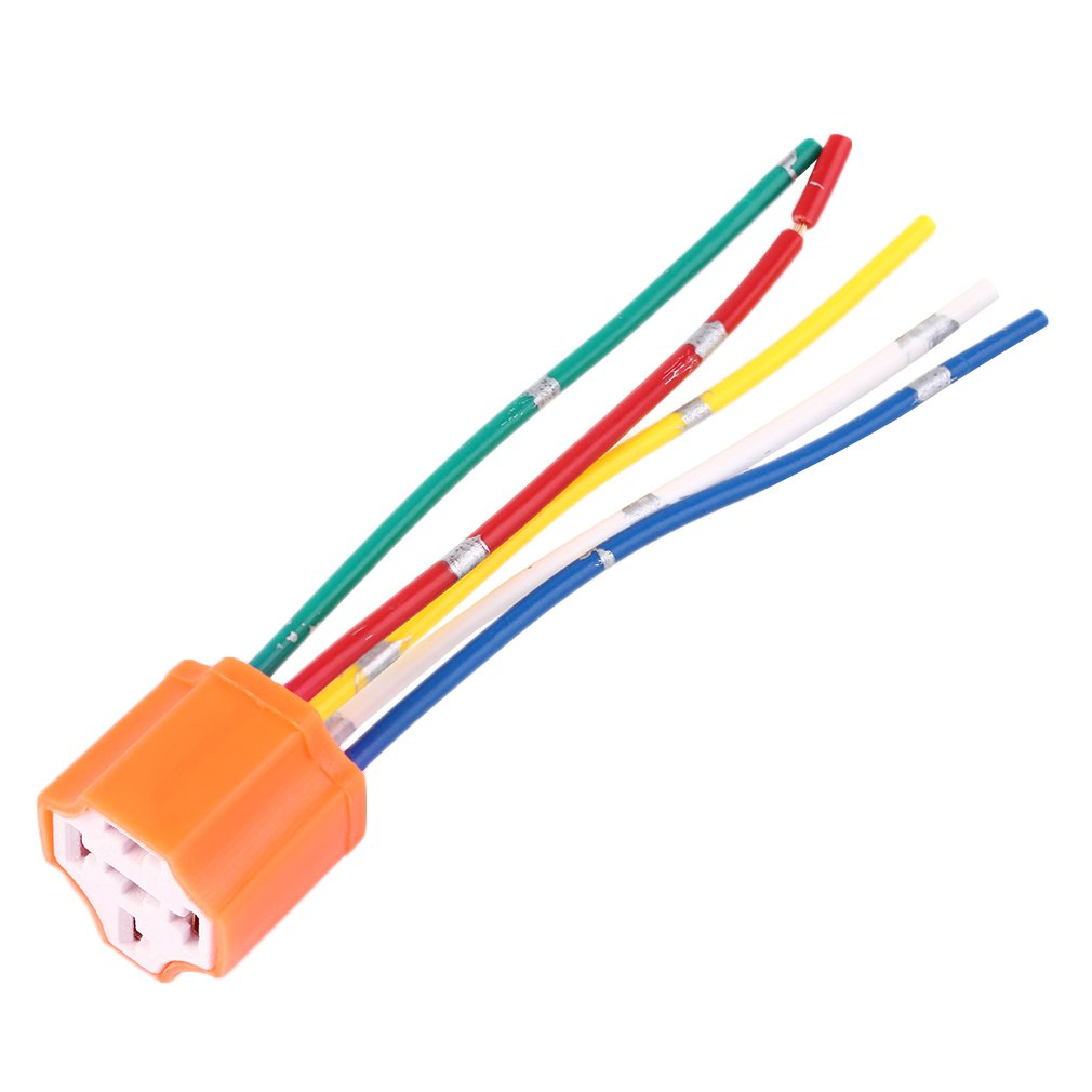 Relay Socket Car Relay Orange Plastic Replacement Relay Socket Harness 5 Pin 5 Wire For Car Automotive Relay