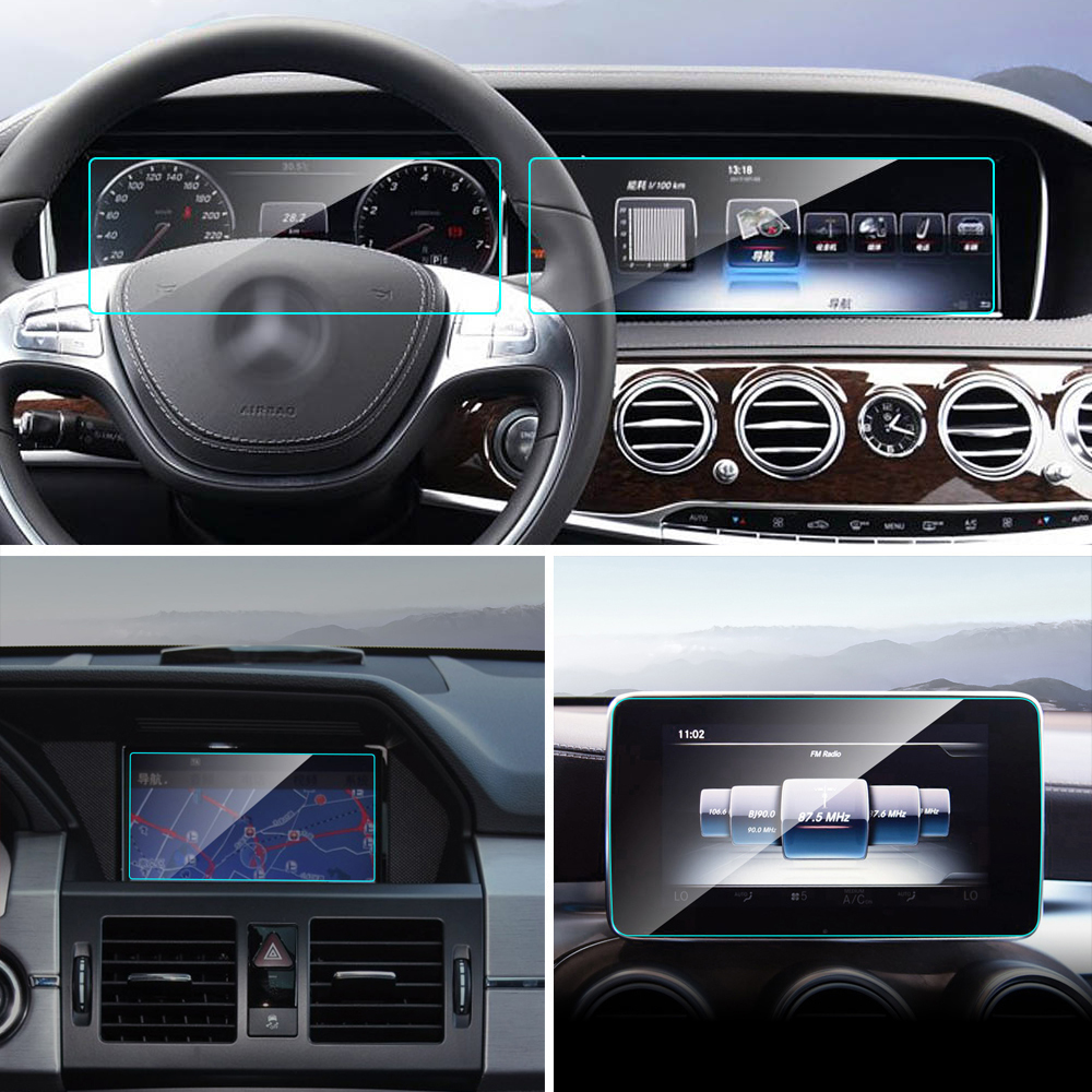 TPU araba GPS navigasyon ekran koruyucu Film için Mercedes W222 V222 W463 W251 V251 W164 X164 W197 X204 G R S GL ML SLC GLK sınıfı
