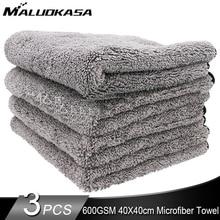 600GSM microfibra Twist Car Clean asciugamano auto pulizia asciugatura panno asciugamani per auto lavaggio lucidatura ceretta dettaglio 40X40CM