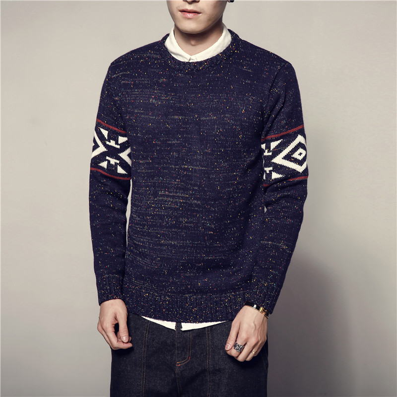 Sweater Male Fashion Vintage New Style Mens Sweaters And Pullovers Casual 2019 Autumn Sweater M-5XL Pullover Knitted